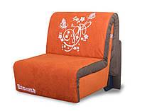 Кресло-кровать Elegant 03 100, оранжевый принт Butterfly