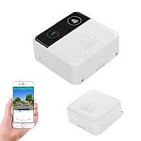Видеодомофон WiFi бюджетный на батарейках, 1Мп камера и радио звонок USAFEQLO DG01, HD 720P, Android & IOS App