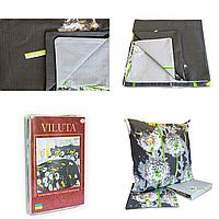 Комплект постельного белья Вилюта 9847 семейный Бело-черный с серым
