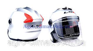 Мотошлем HF-858 металлик (открытый/белое стекло) LS6