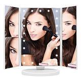 Зеркало с подсветкой для макияжа тройное / косметическое зеркало для макияжа / тройное зеркало с подсветкой,, фото 2