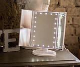 Зеркало с подсветкой для макияжа тройное / косметическое зеркало для макияжа / тройное зеркало с подсветкой,, фото 3