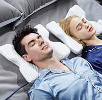 Ортопедическая подушка Memory Foam Pillow, Подушка с эффектом памяти изогнутая, Подушка тоннель