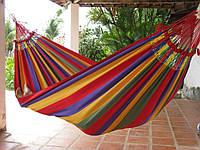 Гамак гавайский подвесной для дома и дачи тканевый, 200x80 см, Гамак тканевый  Woodland Hammock, Гамак гавайский для отдыха из хлопка