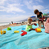 Подстилка для пляжа Анти песок 200*200, Пляжный коврик антипесок, Покрывало пляжное, Товары для пикника и, фото 2