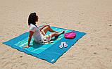 Подстилка для пляжа Анти песок 200*200, Пляжный коврик антипесок, Покрывало пляжное, Товары для пикника и, фото 5