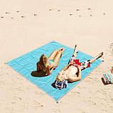 Подстилка для пляжа Анти песок 200*200, Пляжный коврик антипесок, Покрывало пляжное, Товары для пикника и, фото 9