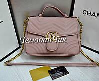 Женская брендовая сумка GUCCI Гуччи пудра, модні сумки, фірмова сумка, сумка через плечо 6