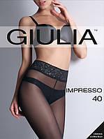 Колготки женские без шортиков с изящным широким поясом из кружева IMPRESSO 40, разные цвета