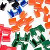 Держатели для Палочек Разноцветные Пластиковые (Зажимы)  (100 шт/уп.), фото 3