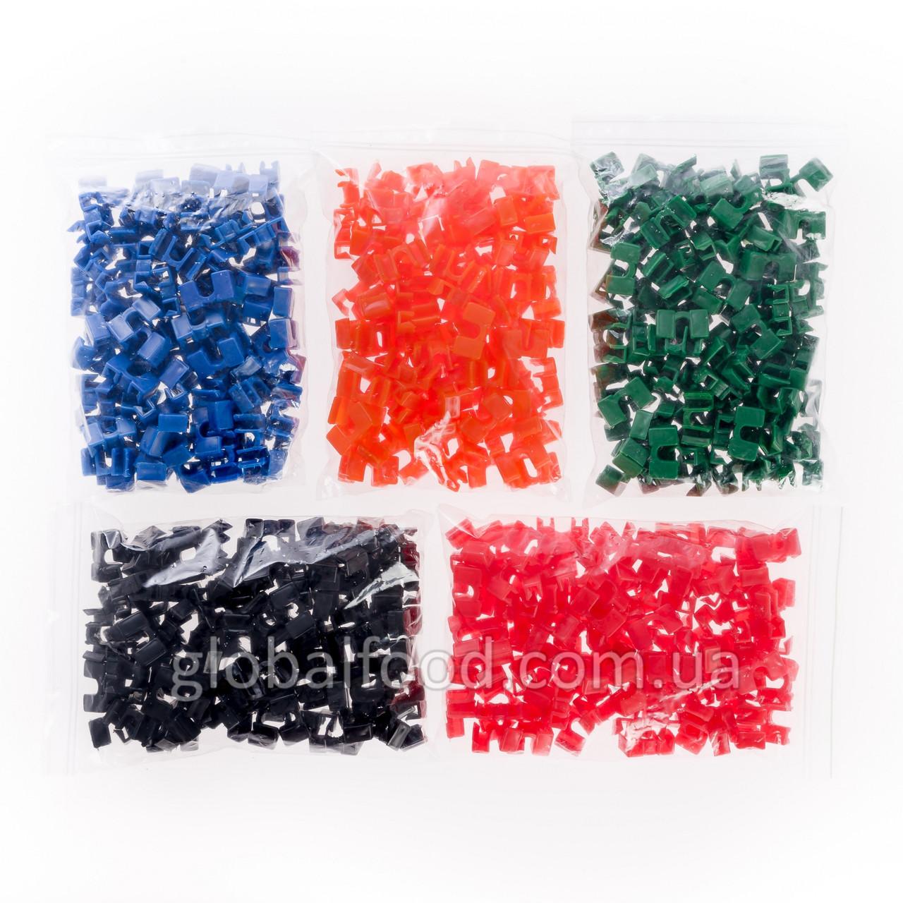 Держатели для Палочек Разноцветные Пластиковые (Зажимы)  (100 шт/уп.)