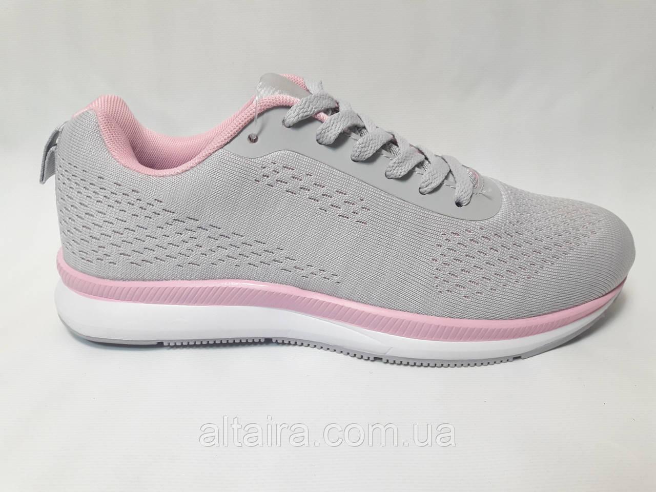 Кросівки жіночі сірі сітка
