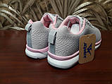 Кросівки жіночі сірі сітка, фото 2