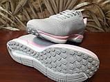 Кросівки жіночі сірі сітка, фото 3