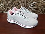 Кросівки жіночі сірі сітка, фото 4