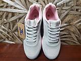 Кросівки жіночі сірі сітка, фото 6