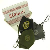 Подарочный набор масок с вышивкой Герб №2, 3 шт.