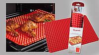 Запекания без пригорания  | 40*30см |Силиконовый Коврик для курицы гриль без жира
