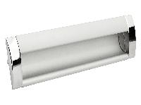 Ручка врізна GIFF UA08 / C00 / 04/96 хром / алюміній, фото 1
