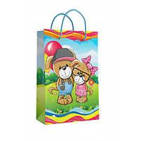 Детский подарочный пакет с ручками 26.5 х 16.5 x 7 см Кинда арт.11-02-1391