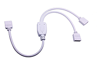 RGB коннектор разветвлитель-спліттер rgb на 2 відрізки світлодіодної стрічки, фото 1
