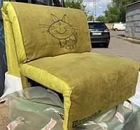 Кресло-кровать Elegant 03 зеленый принт Cat, 100