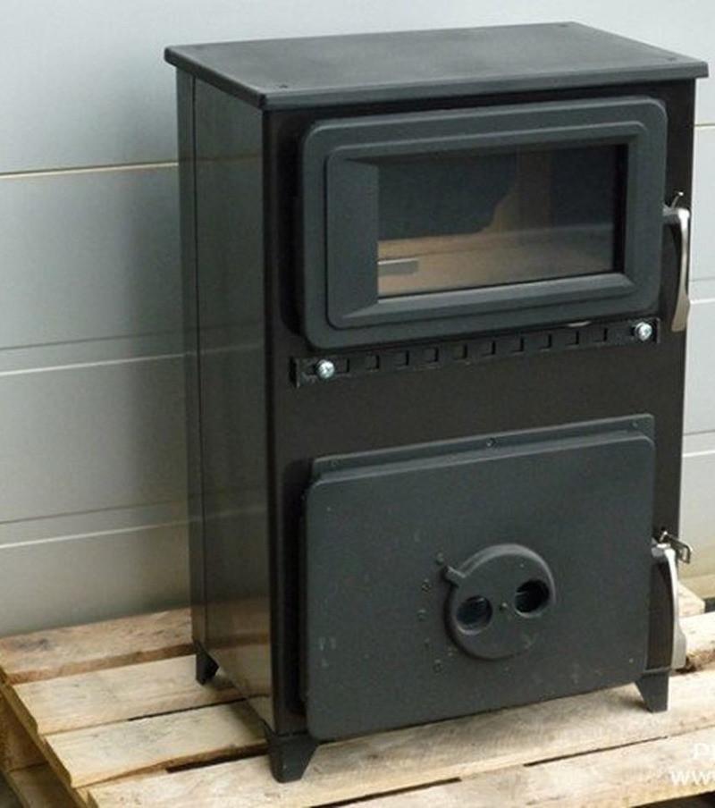 Печь для обогрева гаража Thorma FILEX-H черная (Варочная буржуйка Торма Филекс)