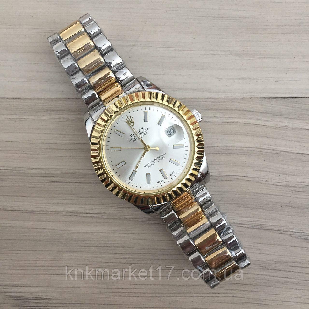 Rolex Date Just Silver-Gold-Silver