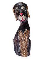 Статуэтка собачка деревянная 20см,декор рокко