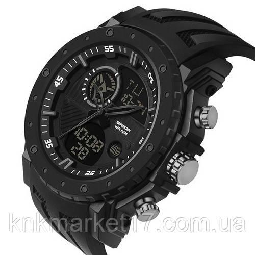 Мужские спортивные часы Sanda 6012 All Black