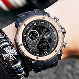 Мужские спортивные часы Sanda 6012 Black-Cuprum, фото 2