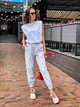 """Женские брюки в стиле """"Зара"""" с накладными карманами на резинке беж, серый, белый, фото 3"""