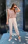 """Женские брюки в стиле """"Зара"""" с накладными карманами на резинке беж, серый, белый, фото 4"""