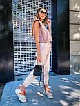 """Женские брюки в стиле """"Зара"""" с накладными карманами на резинке беж, серый, белый, фото 8"""