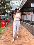 """Женские брюки в стиле """"Зара"""" с накладными карманами на резинке беж, серый, белый, фото 9"""