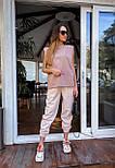 """Женские брюки в стиле """"Зара"""" с накладными карманами на резинке беж, серый, белый, фото 6"""