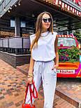 """Женские брюки в стиле """"Зара"""" с накладными карманами на резинке беж, серый, белый, фото 7"""