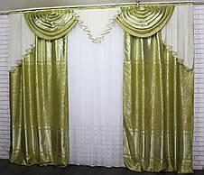 """Комплект ламбрекен зі шторами з тканини """"Блекаут"""" Код 063лш462, фото 3"""