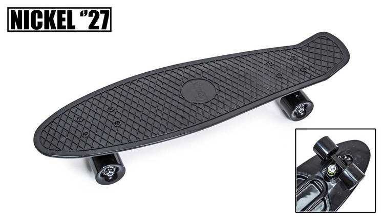 "Скейт ""Penny Board"" Nickel 27"" Black Матовые колеса, фото 2"