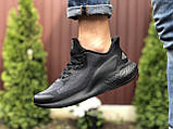 Мужские летние кроссовки Adidas Alphaboost,черные, фото 2