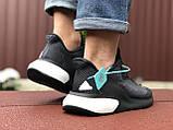 Мужские летние кроссовки Adidas Alphaboost,черно белые, фото 4