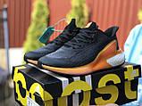 Женские модные кроссовки Adidas Alphaboost,черные с оранжевым, фото 2