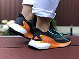 Женские модные кроссовки Adidas Alphaboost,черные с оранжевым, фото 4