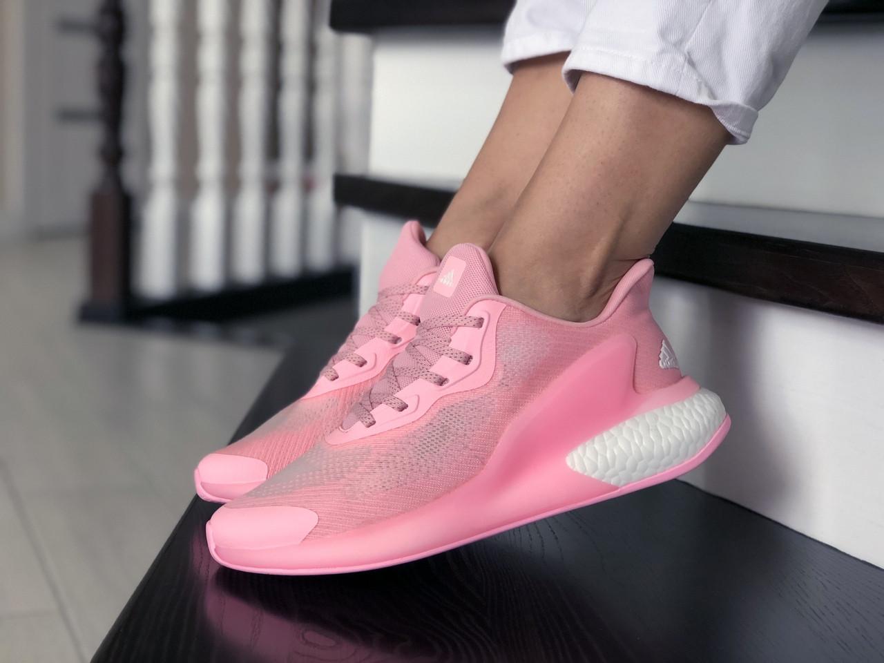 Женские модные кроссовки Adidas Alphaboost,розовые