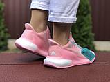 Женские модные кроссовки Adidas Alphaboost,розовые, фото 3