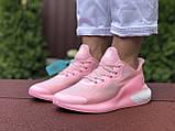 Женские модные кроссовки Adidas Alphaboost,розовые, фото 4