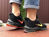 Кроссовки Nike Flyknit Lunar 3,черные с оранжевым, фото 3