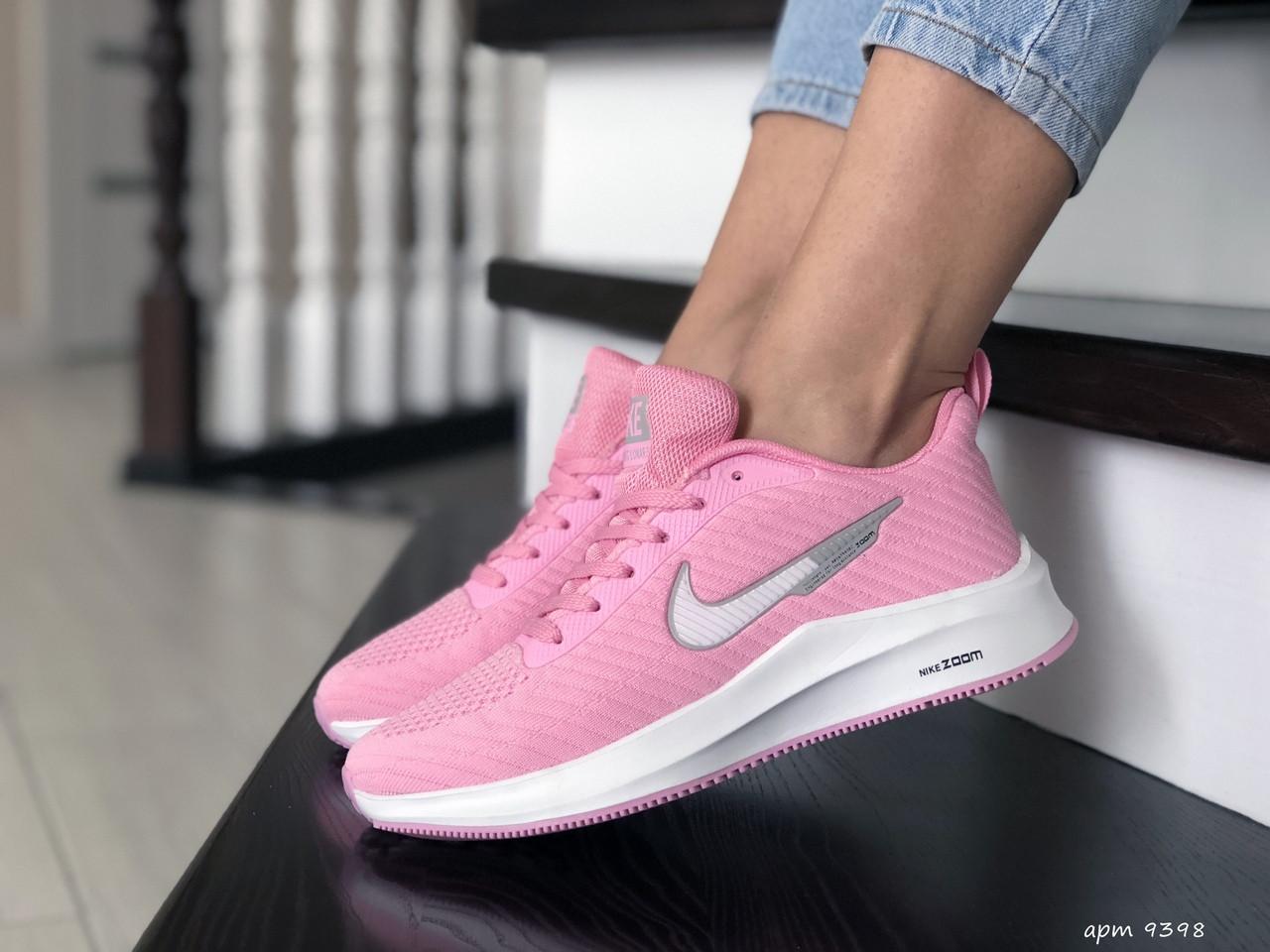 Кроссовки женские Nike Flyknit Lunar 3,розовые с белым