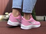 Кроссовки женские Nike Flyknit Lunar 3,розовые с белым, фото 3