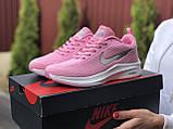 Кроссовки женские Nike Flyknit Lunar 3,розовые с белым, фото 4